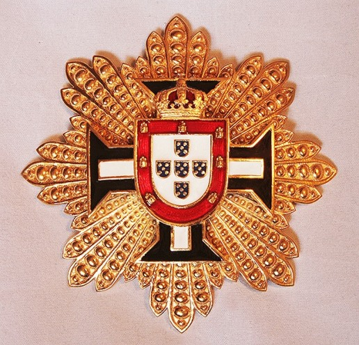 Breast Star for the Royal Honor Guard of the Royal House of Portugal.