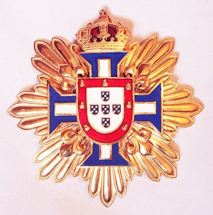 Grand Cross Star for the Order of the Knights of the Royal House of Portugal.