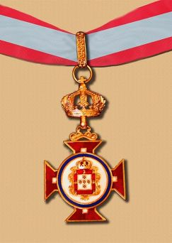Neck badges for the Order of Merit of the royal House of Portugal and for the Royal Honor Guard of the Royal House of Portugal.