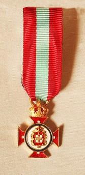 Portuguese Royal House Order of Merit miniature medal